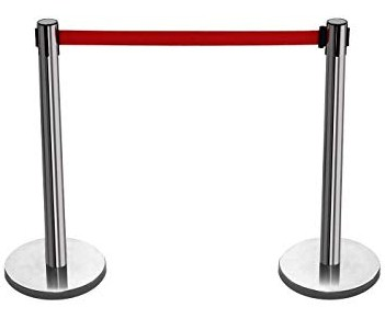postes para separación en cines