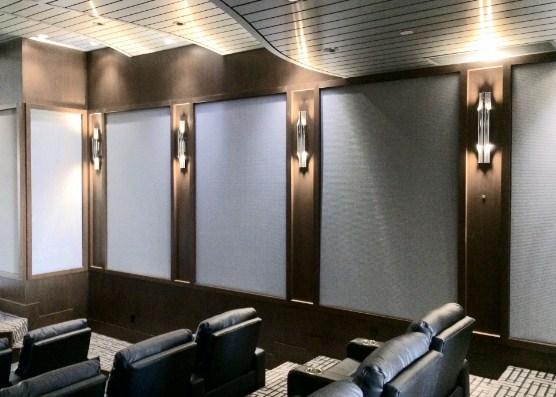 tapizado de paredes en cines y teatros con tejidos ignífugos m1